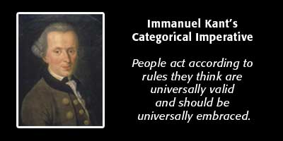 a personal view on immanuel kants categorical imperative Immanuel kant and the natural law tradition  he intended his categorical imperative to be a formal test that tells us which  pertains to personal.