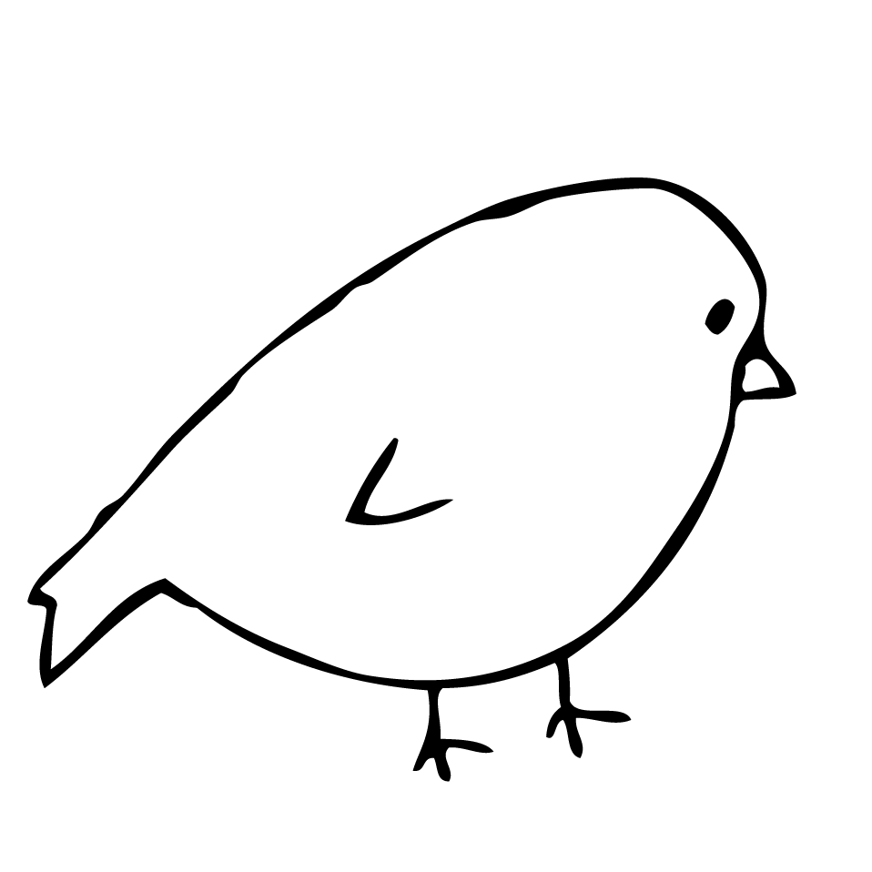 Simple Bird Line Art : Birds drawing easy imgkid the image kid has it