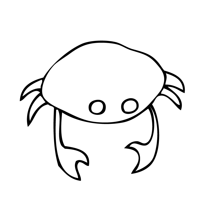 how to draw cute crab