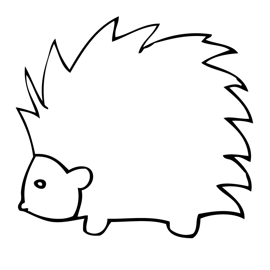 Kcons for Porcupine coloring page